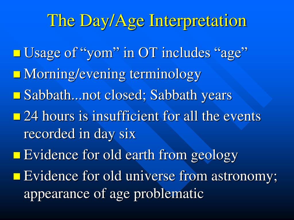 The Day/Age Interpretation