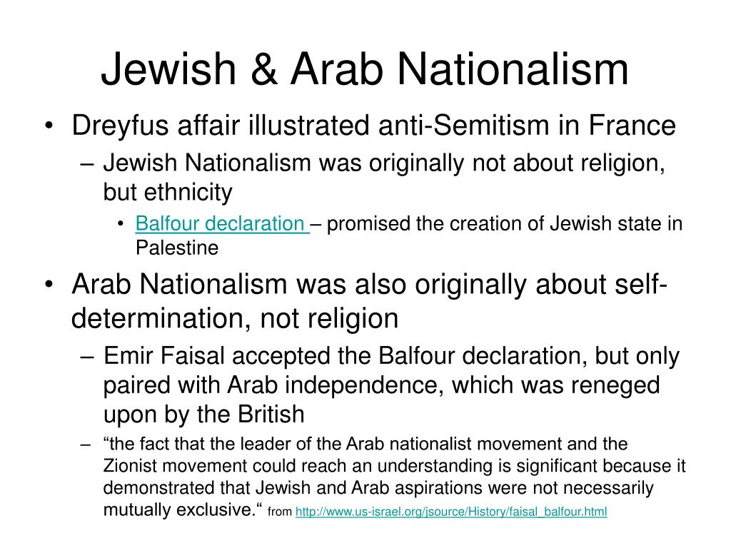 Jewish & Arab Nationalism
