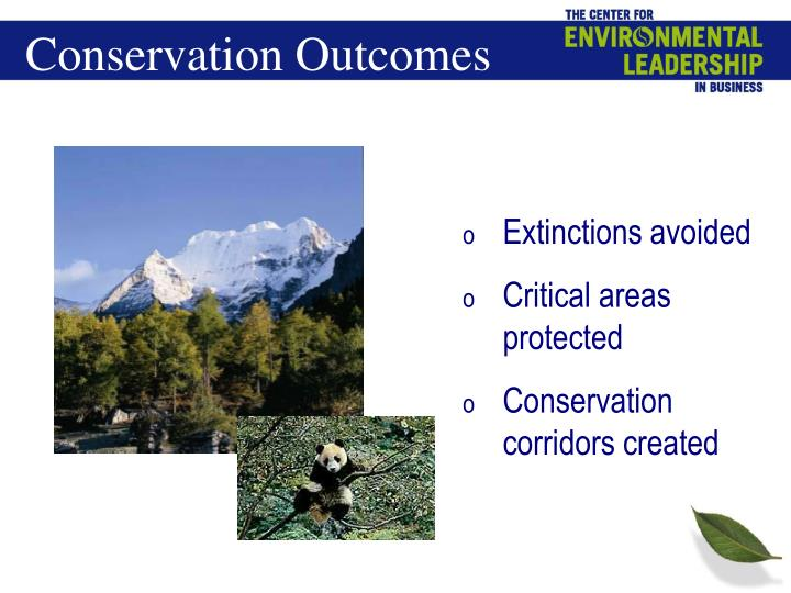 Conservation Outcomes