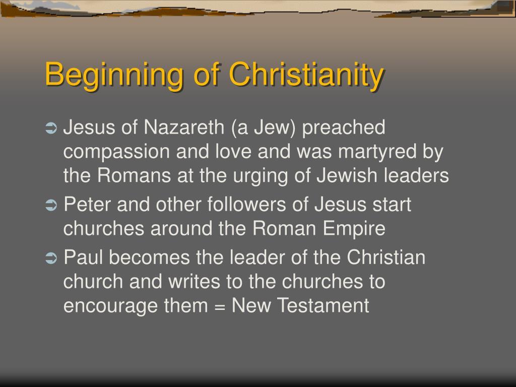 Beginning of Christianity