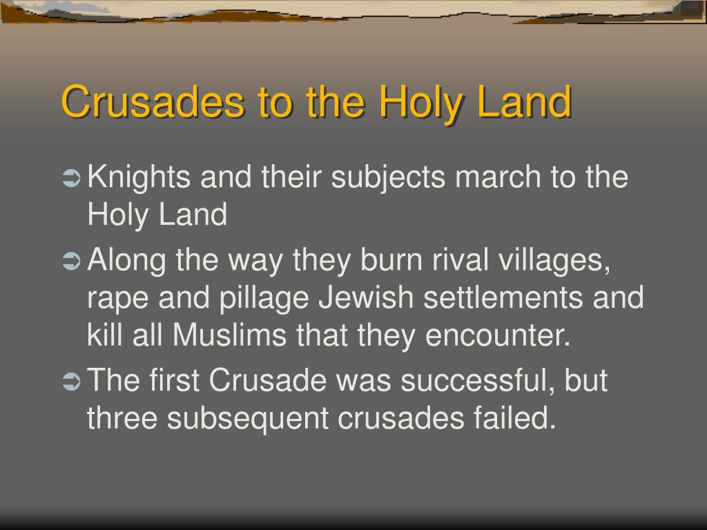 Crusades to the Holy Land