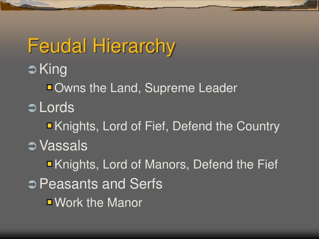 Feudal Hierarchy