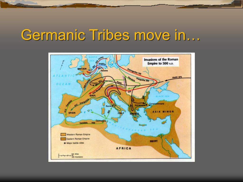 Germanic Tribes move in…