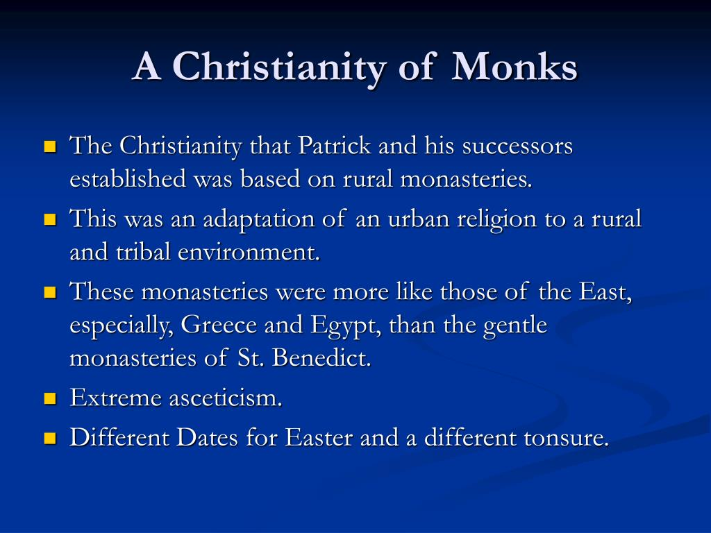 A Christianity of Monks