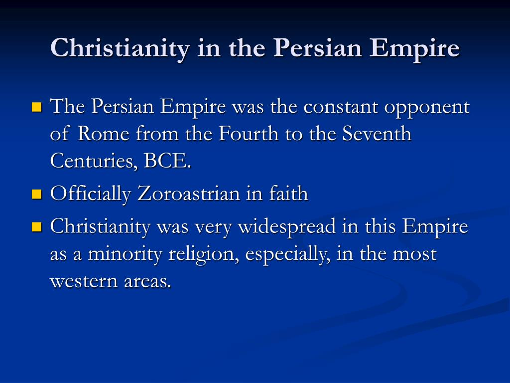 Christianity in the Persian Empire