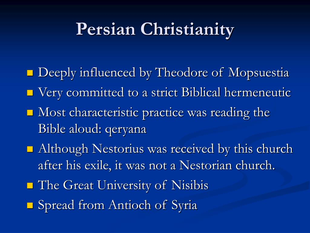 Persian Christianity