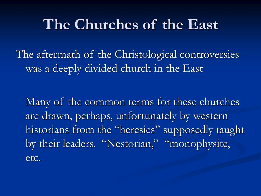 The Churches of the East