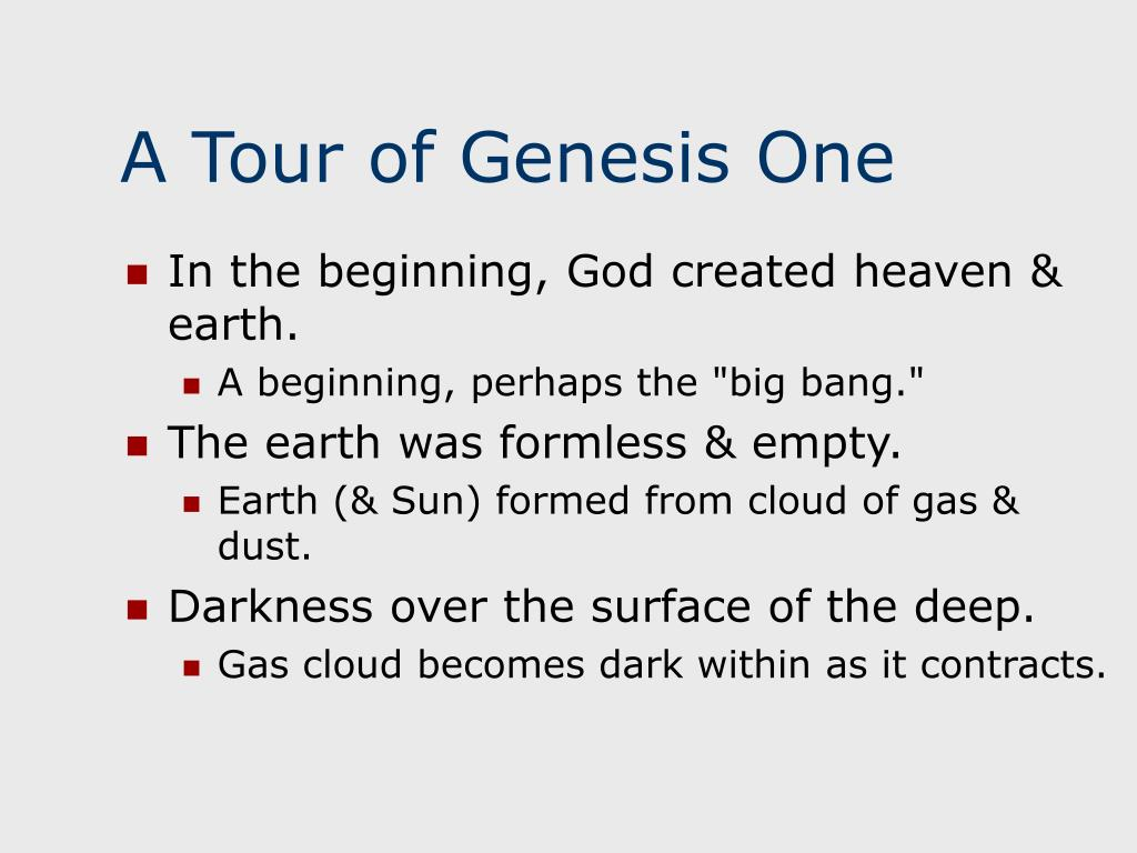 A Tour of Genesis One