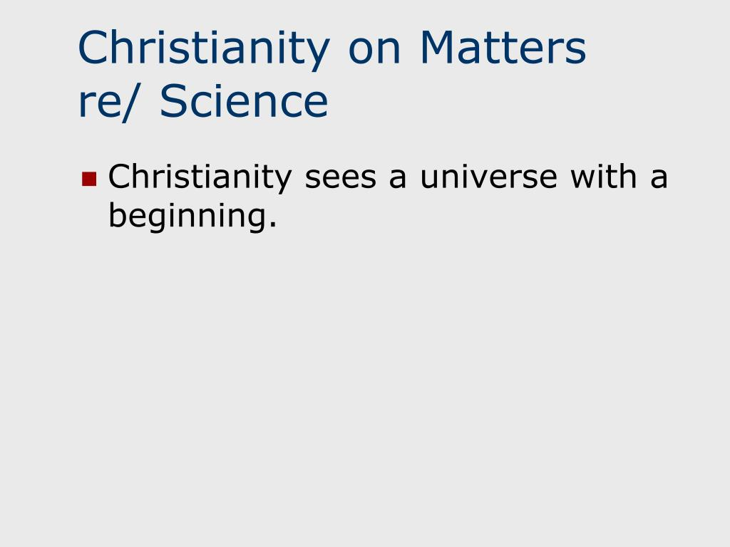 Christianity on Matters