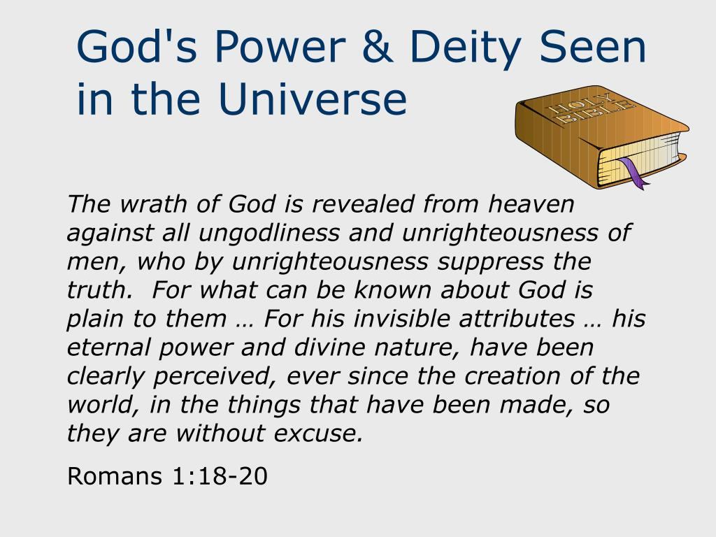 God's Power & Deity Seen in the Universe