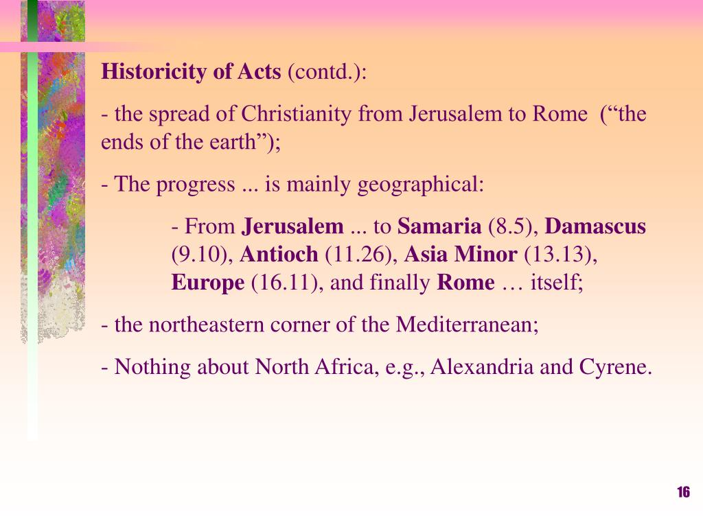 Historicity of Acts
