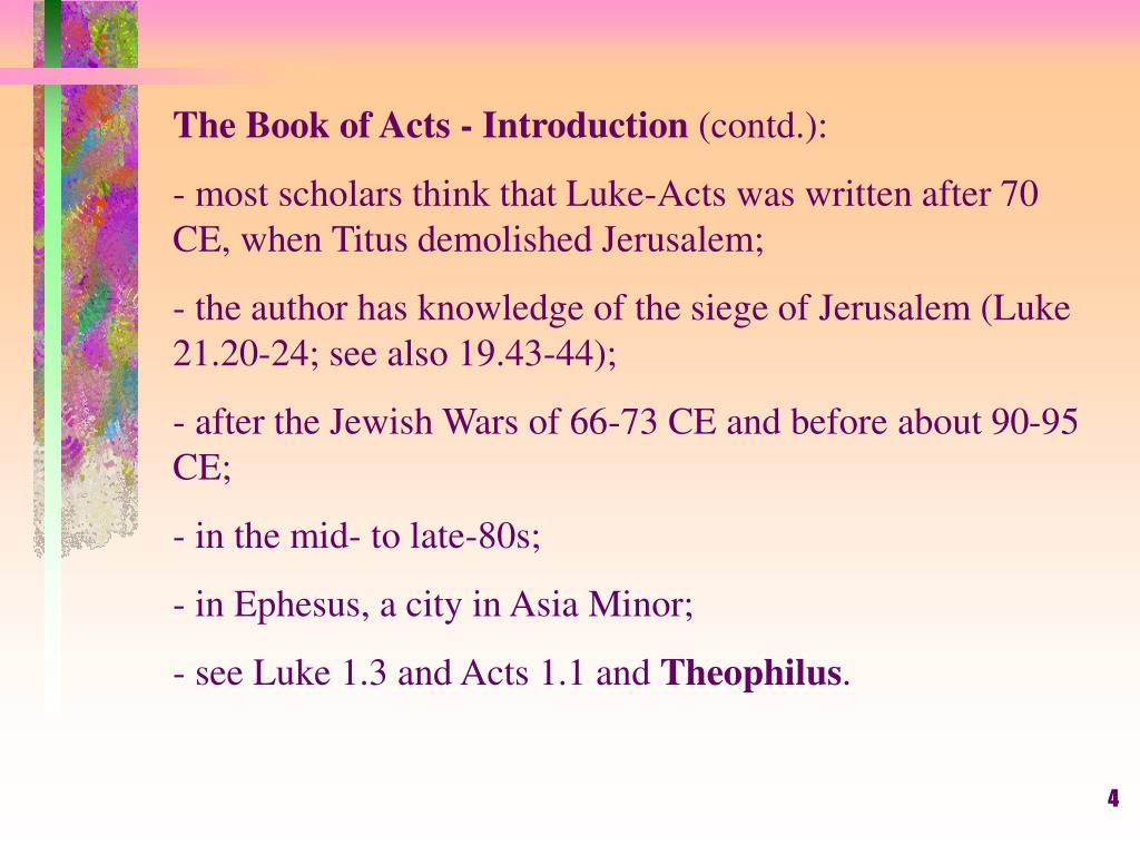The Book of Acts - Introduction