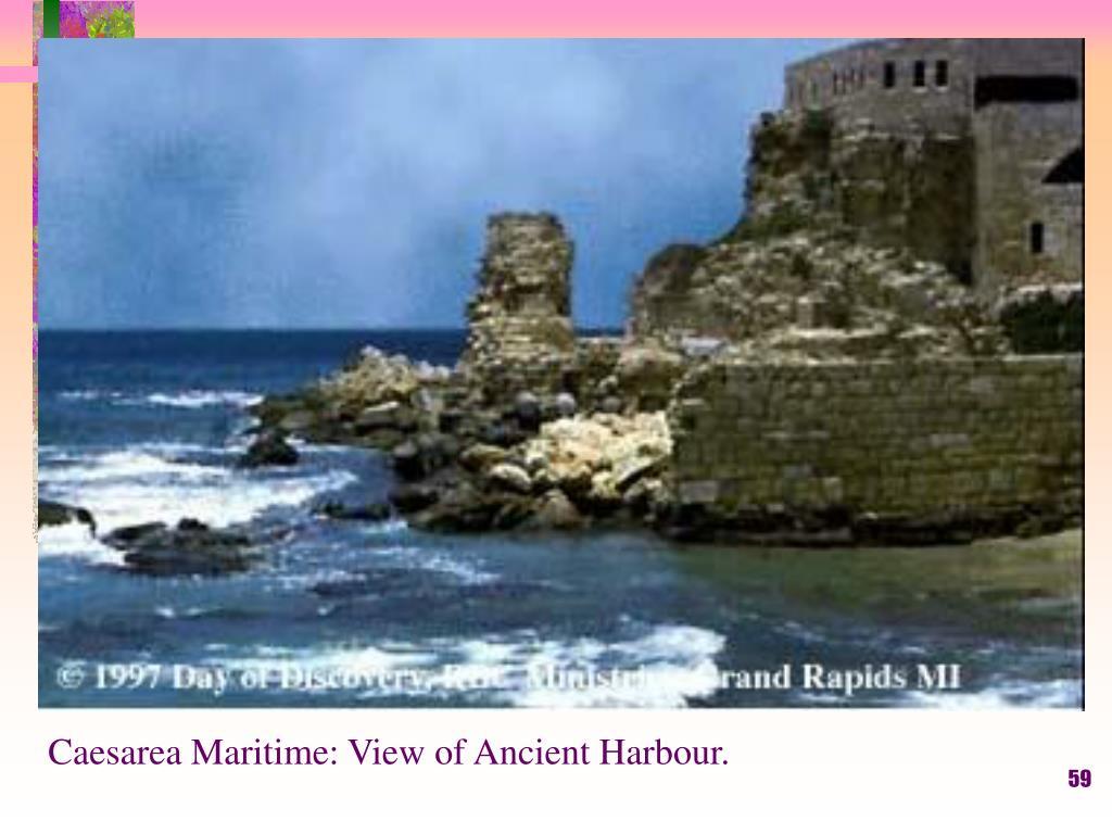 Caesarea Maritime: View of Ancient Harbour.