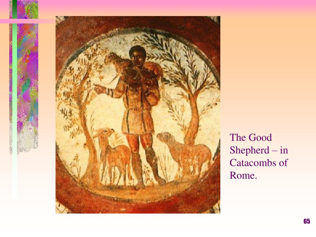 The Good Shepherd – in Catacombs of Rome.