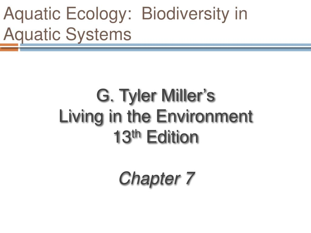 Aquatic Ecology:  Biodiversity in Aquatic Systems