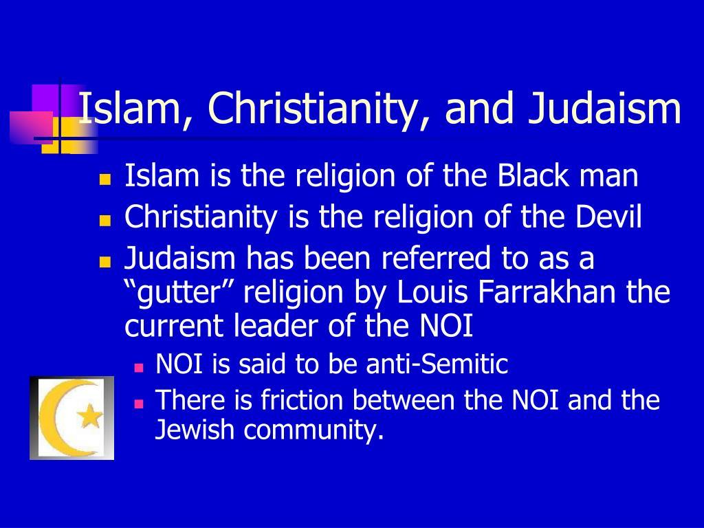 Islam, Christianity, and Judaism