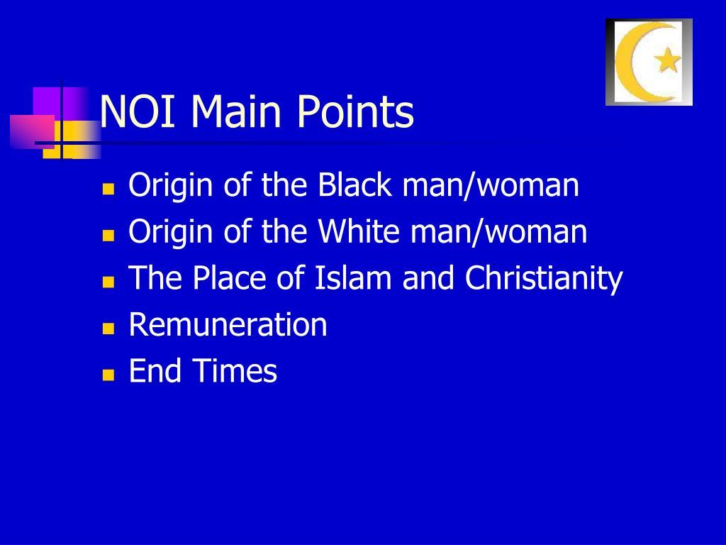 NOI Main Points