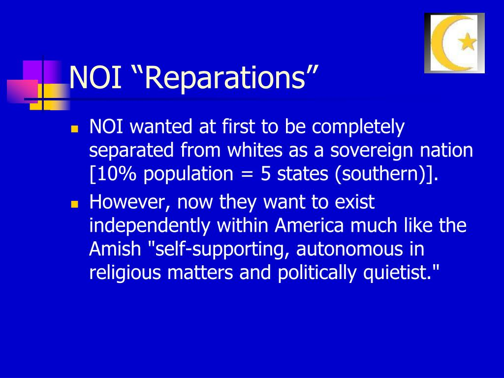 """NOI """"Reparations"""""""