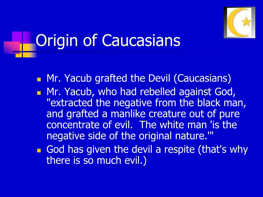 Origin of Caucasians