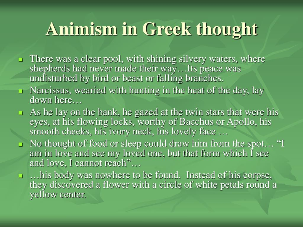 Animism in Greek thought