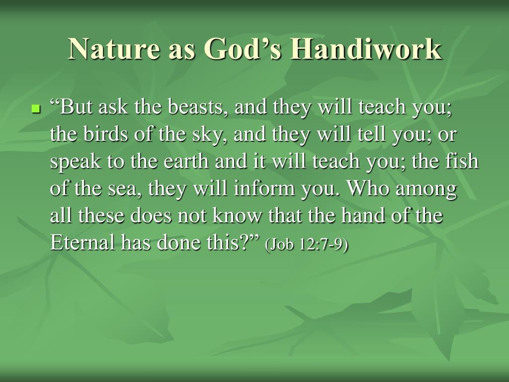 Nature as God's Handiwork