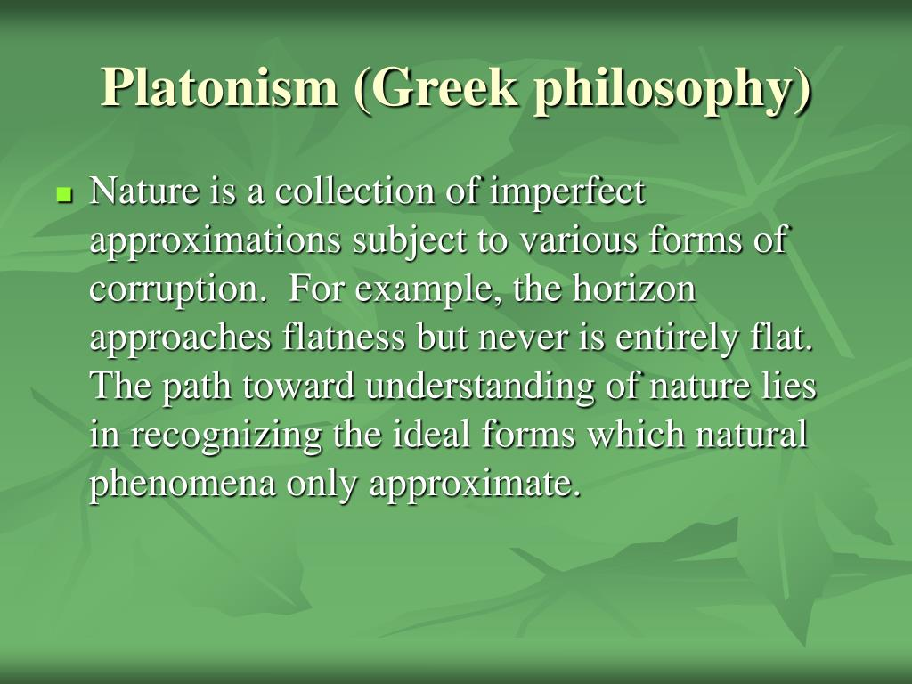 Platonism (Greek philosophy)