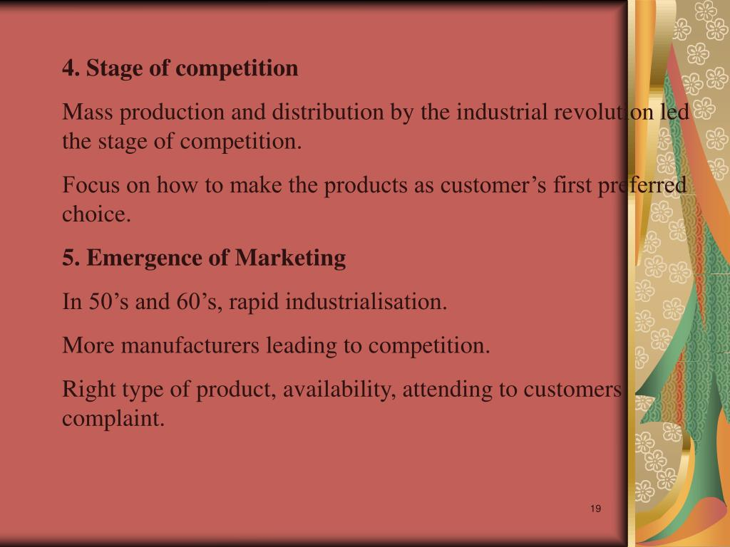 4. Stage of competition