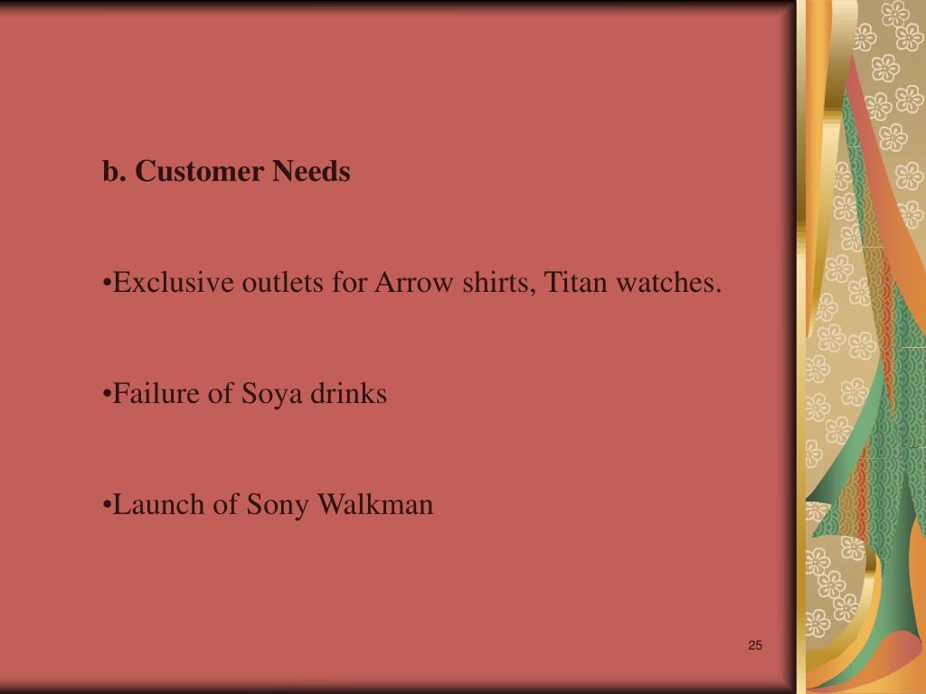 b. Customer Needs
