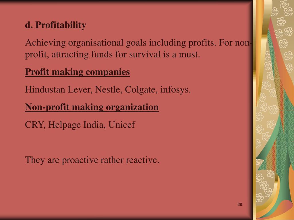 d. Profitability
