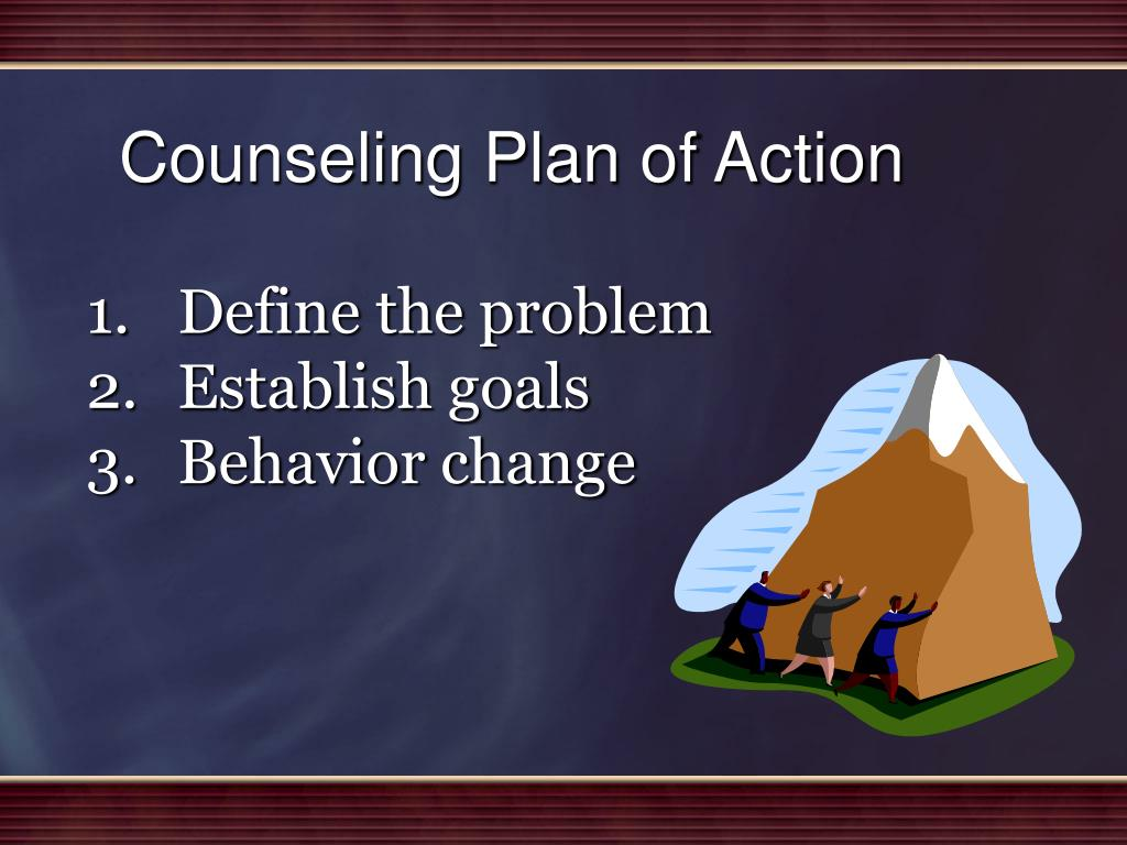 Counseling Plan of Action