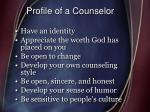 profile of a counselor