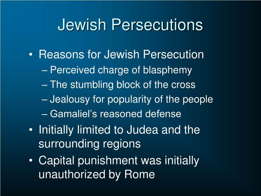 Jewish Persecutions