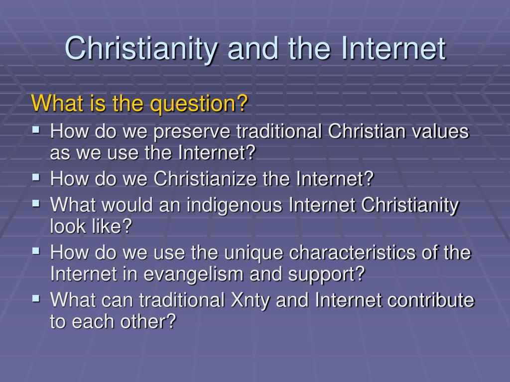 Christianity and the Internet