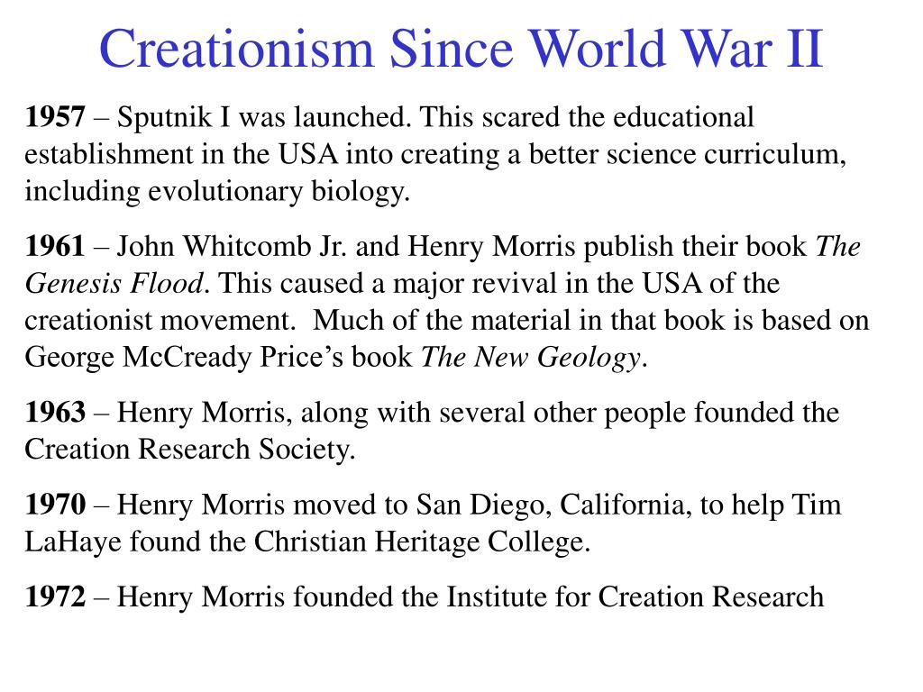 Creationism Since World War II