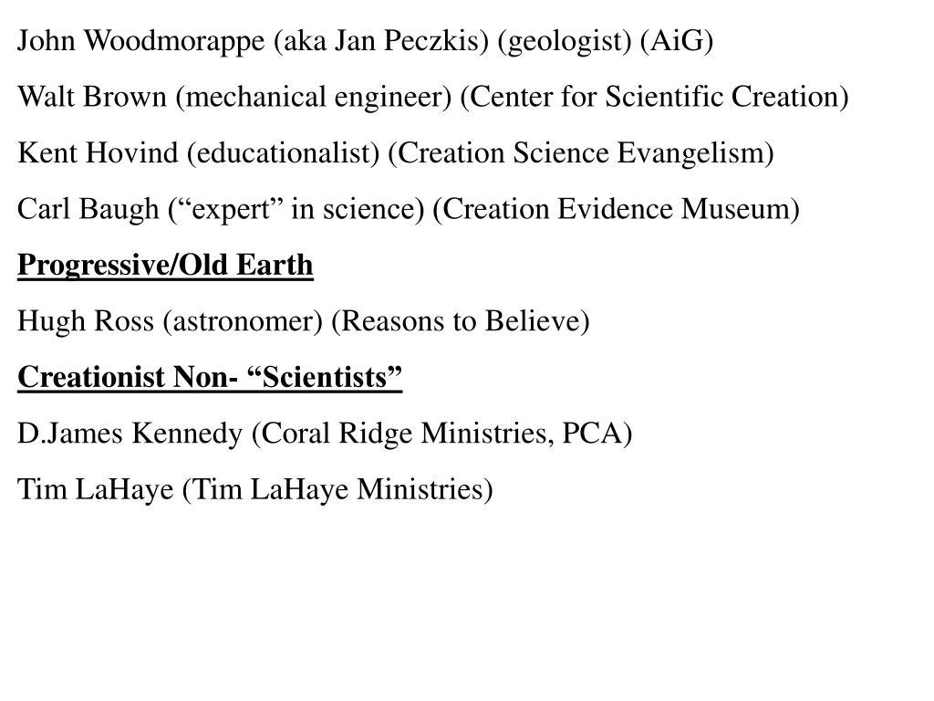 John Woodmorappe (aka Jan Peczkis) (geologist) (AiG)