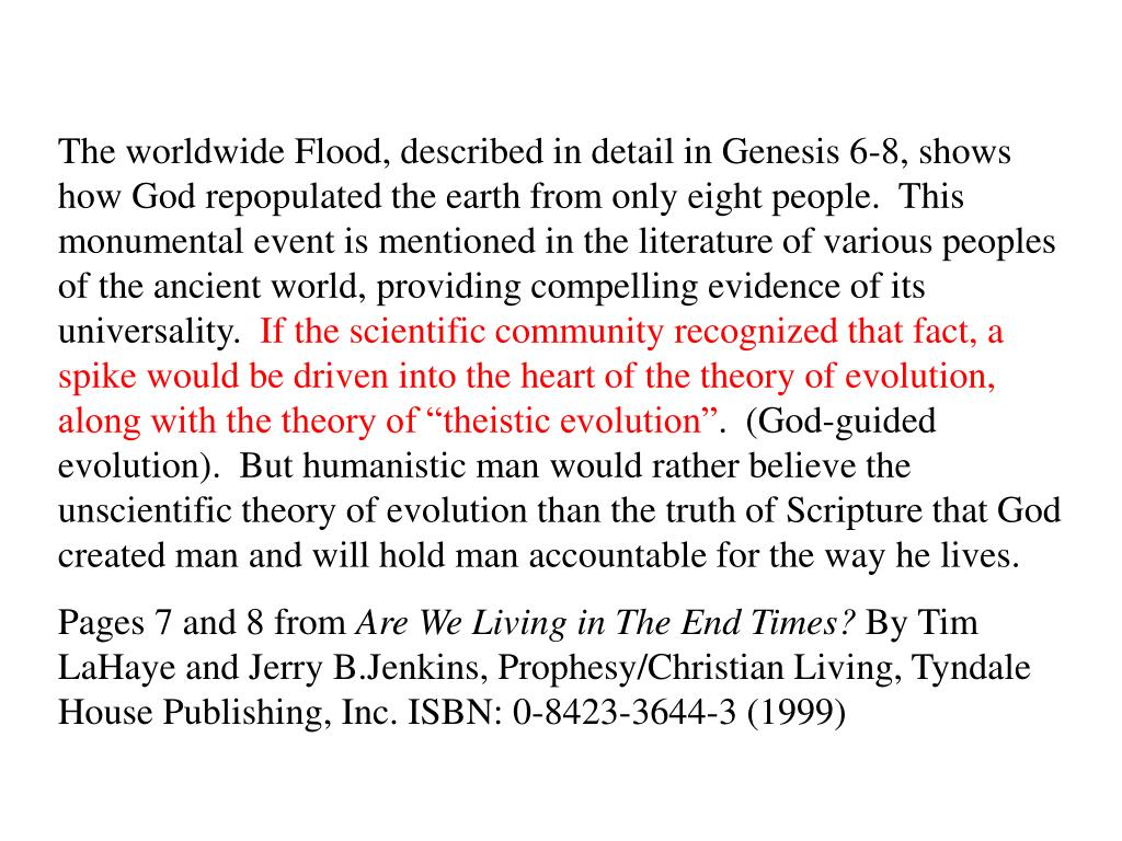 The worldwide Flood, described in detail in Genesis 6-8, shows how God repopulated the earth from only eight people.  This monumental event is mentioned in the literature of various peoples of the ancient world, providing compelling evidence of its universality.