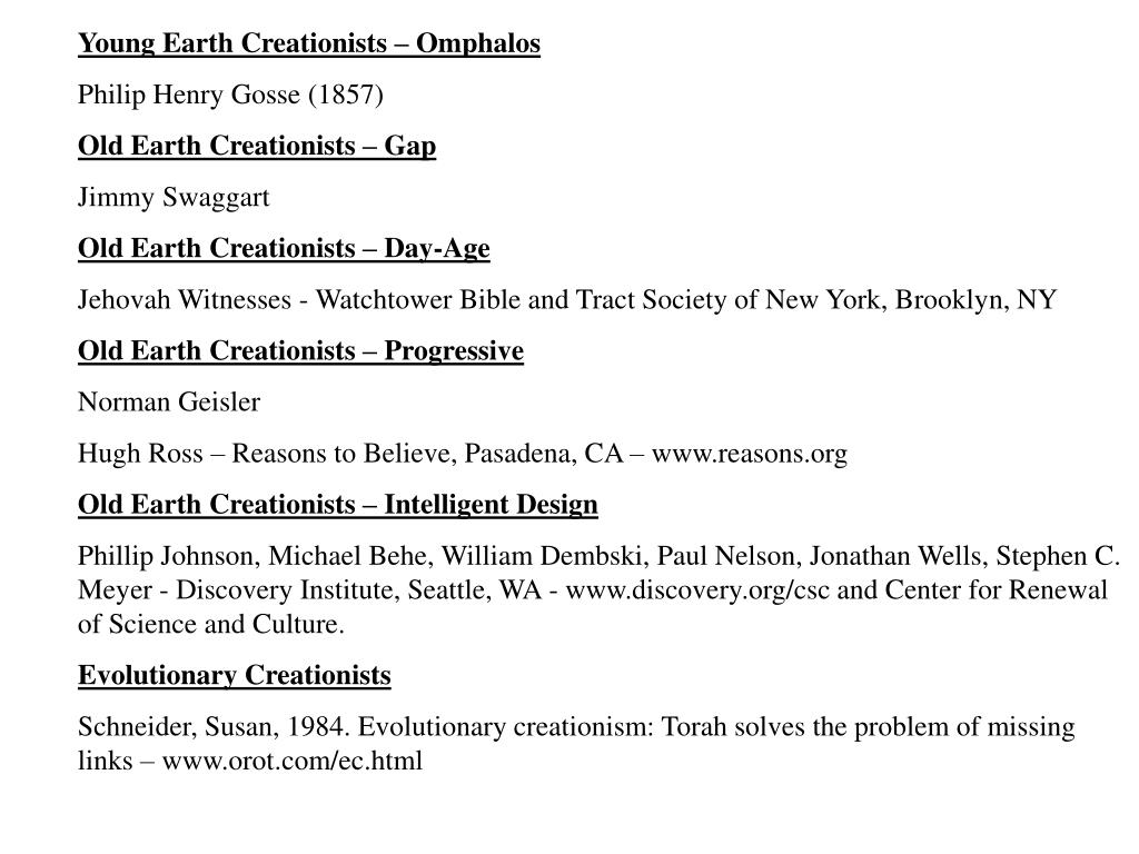 Young Earth Creationists – Omphalos