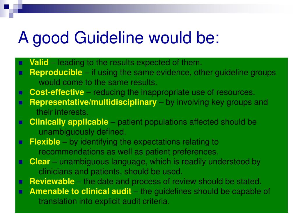 A good Guideline would be: