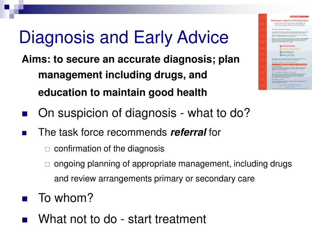 Diagnosis and Early Advice