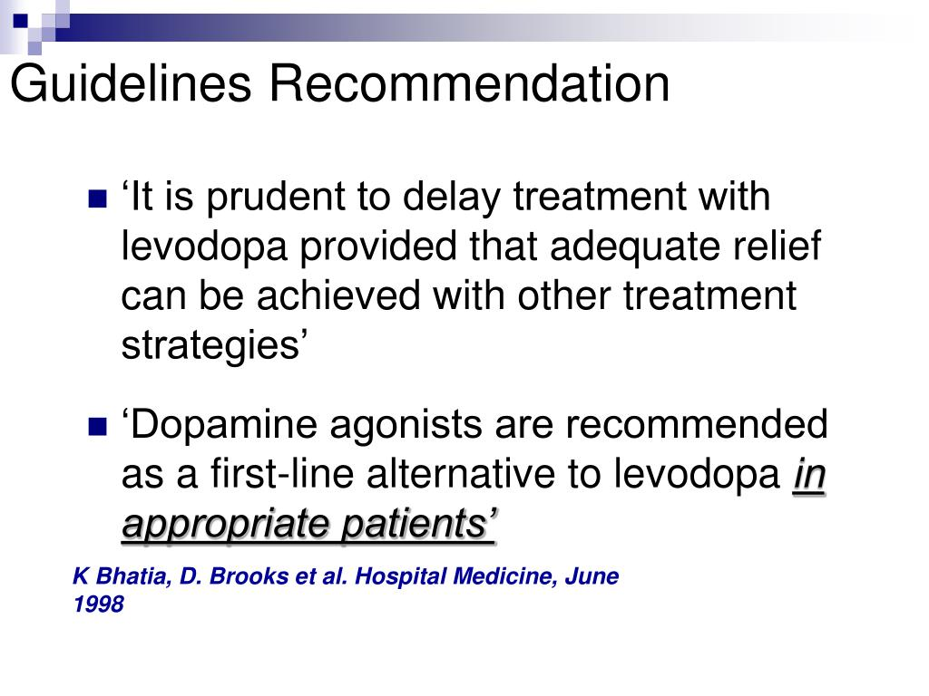 Guidelines Recommendation