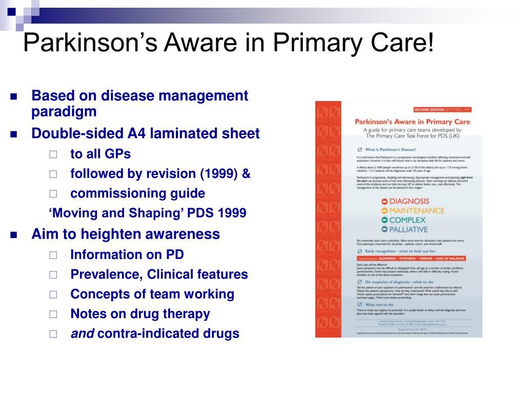 Parkinson's Aware in Primary Care!