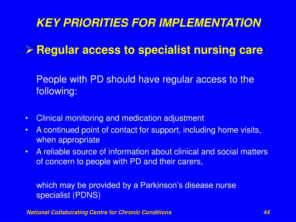 KEY PRIORITIES FOR IMPLEMENTATION