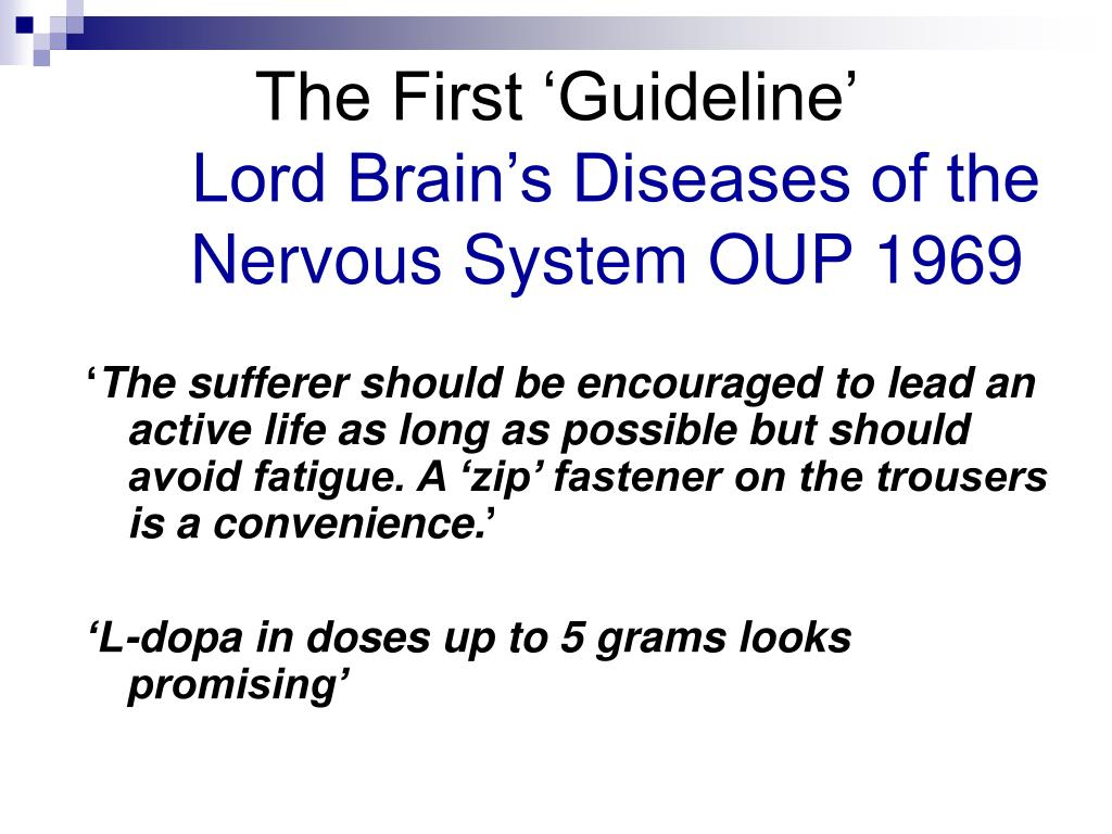 The First 'Guideline'