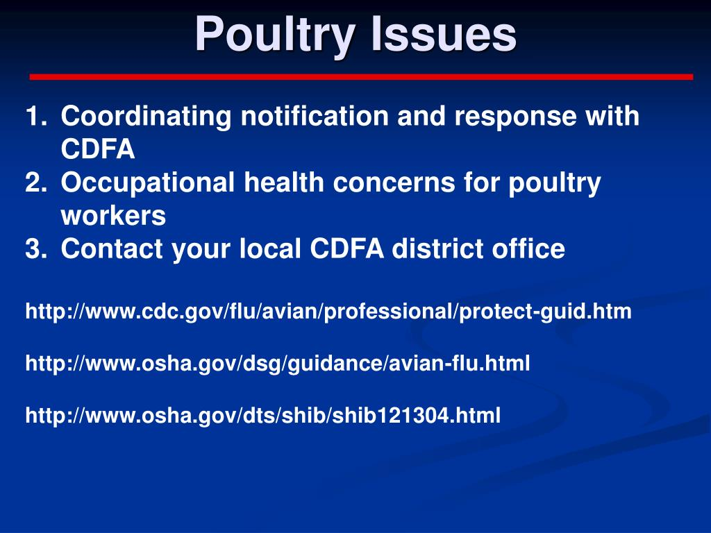 Poultry Issues