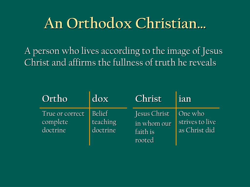 An Orthodox Christian…