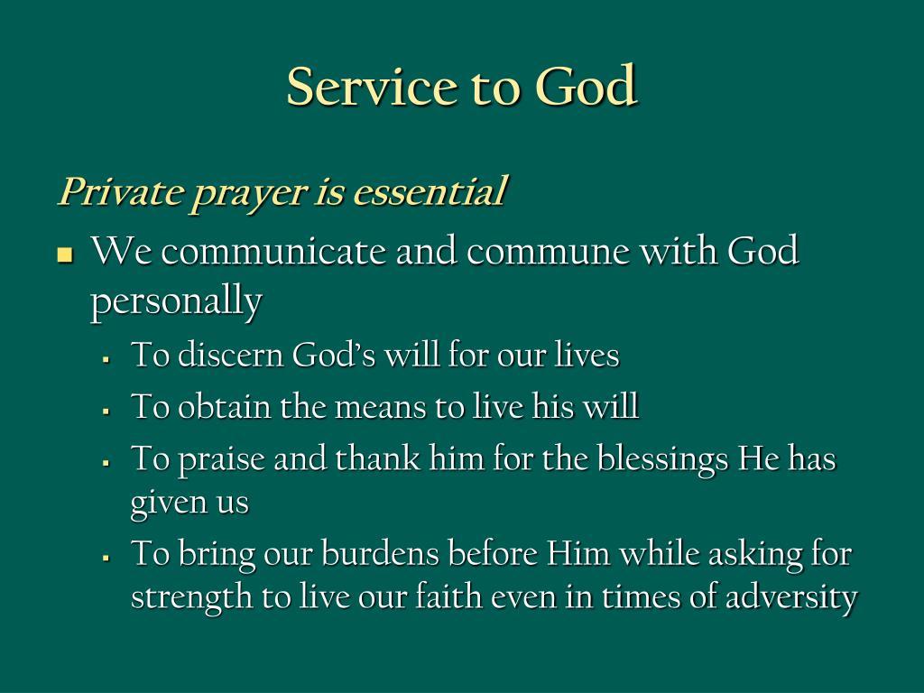 Service to God