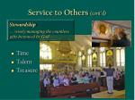 service to others cont d49