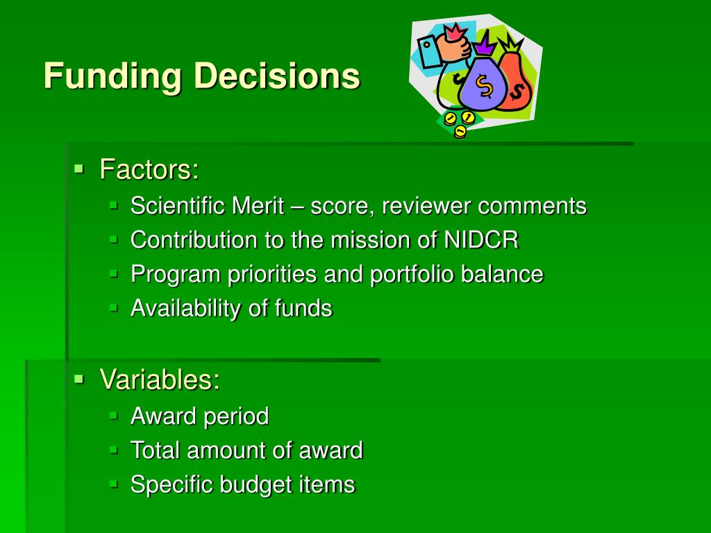 Funding Decisions