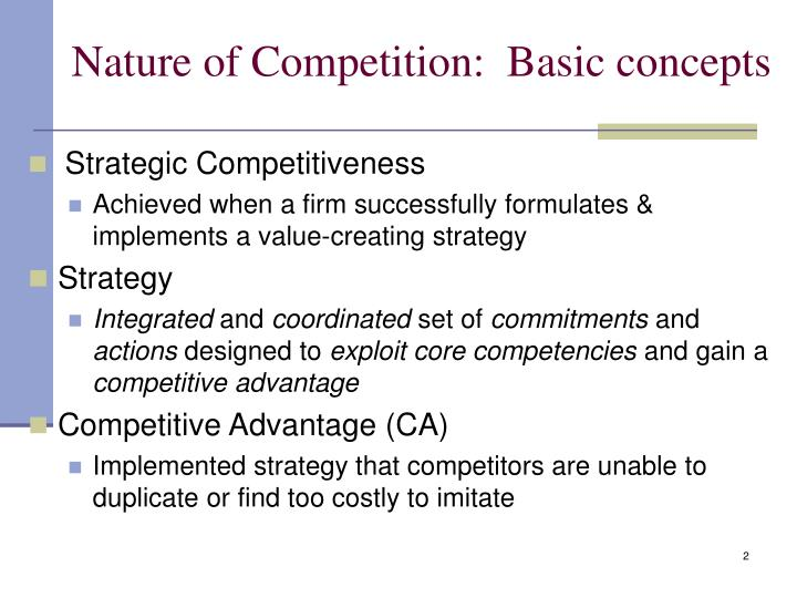 Nature of competition basic concepts