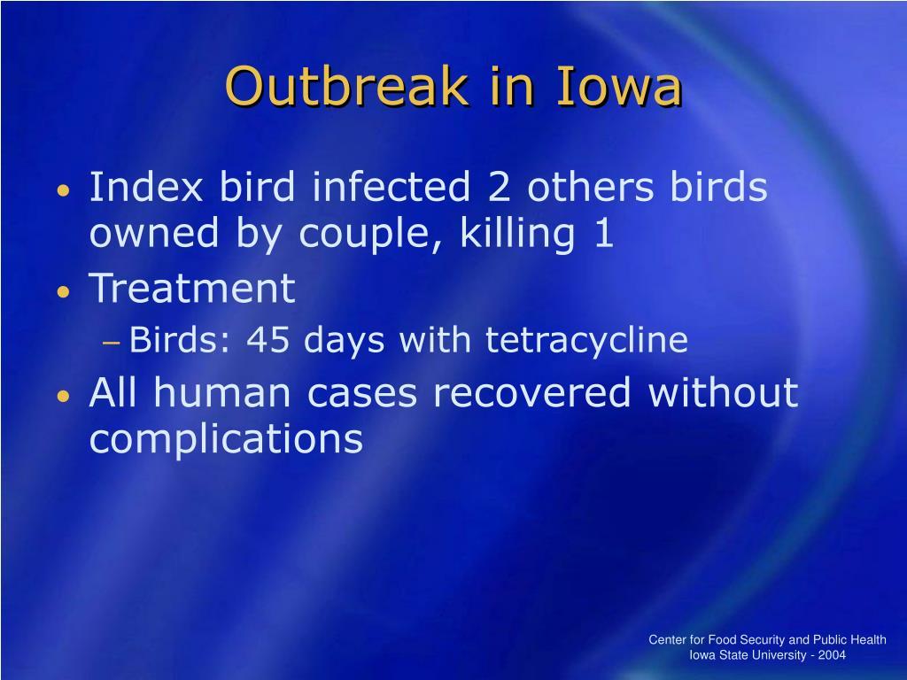 Outbreak in Iowa